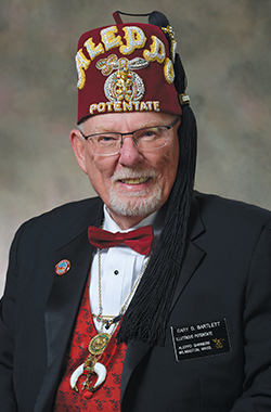 Congratulations to our new Potentate, Gary Bartlett!